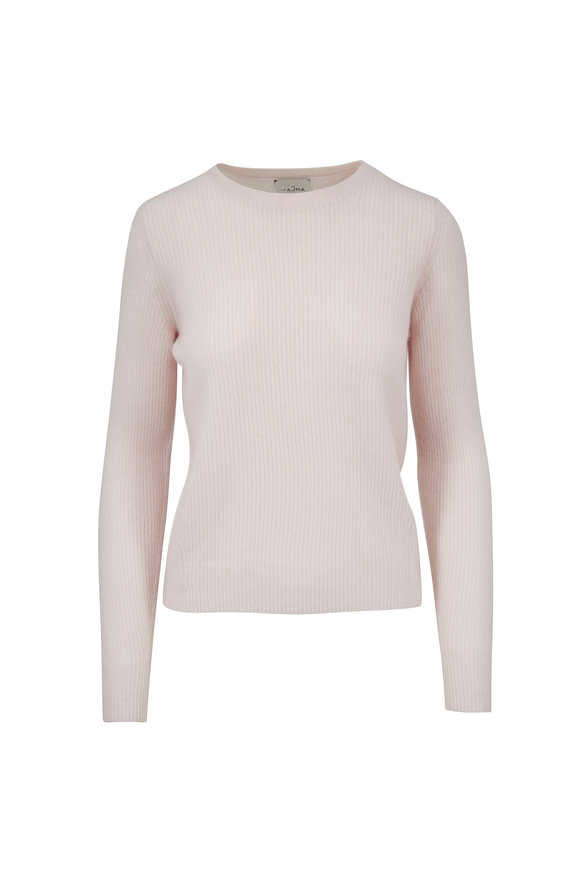 Le Kasha Dublin Light Pink Ribbed Cashmere Sweater