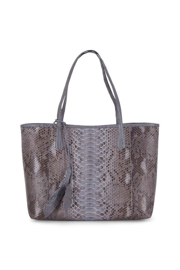 Nancy Gonzalez Erica Gray Python & Crocodile Large Tote Bag