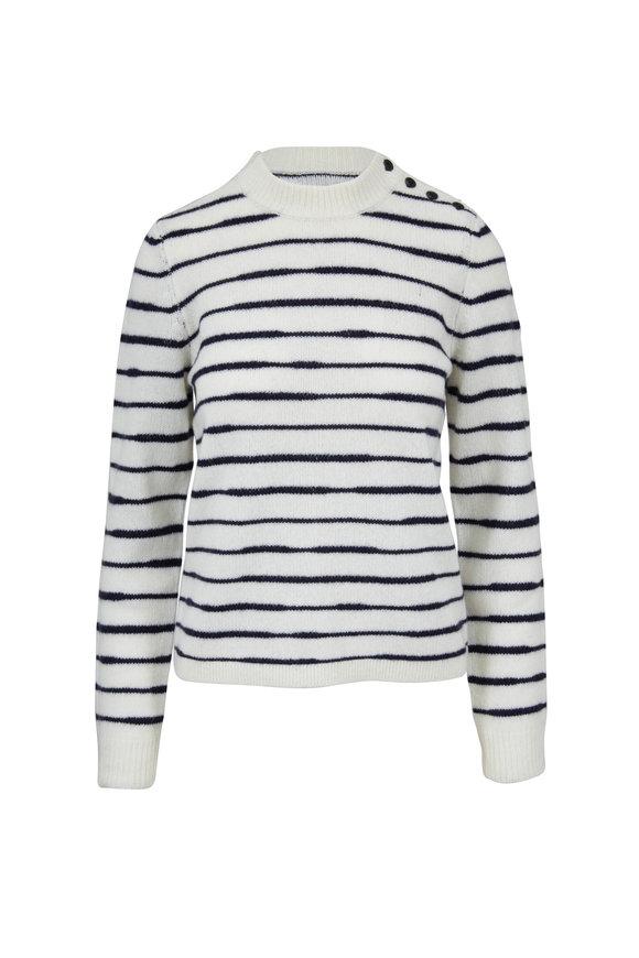Rag & Bone Sam Ivory & Navy Striped Sweater