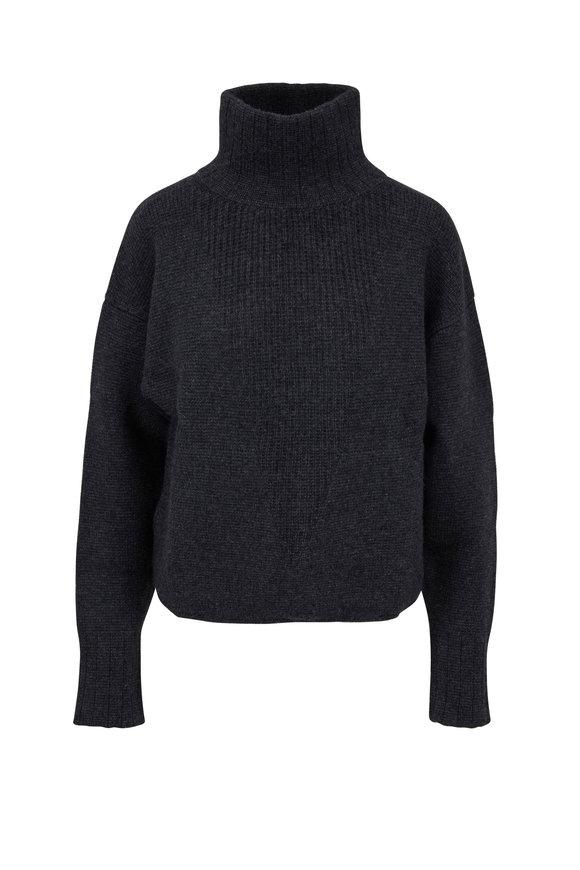 Le Kasha Chyriu Charcoal Gray Cashmere Turtleneck Sweater