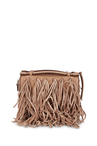 Tod's - Gommino Tobacco Leather Fringed Mini Bag