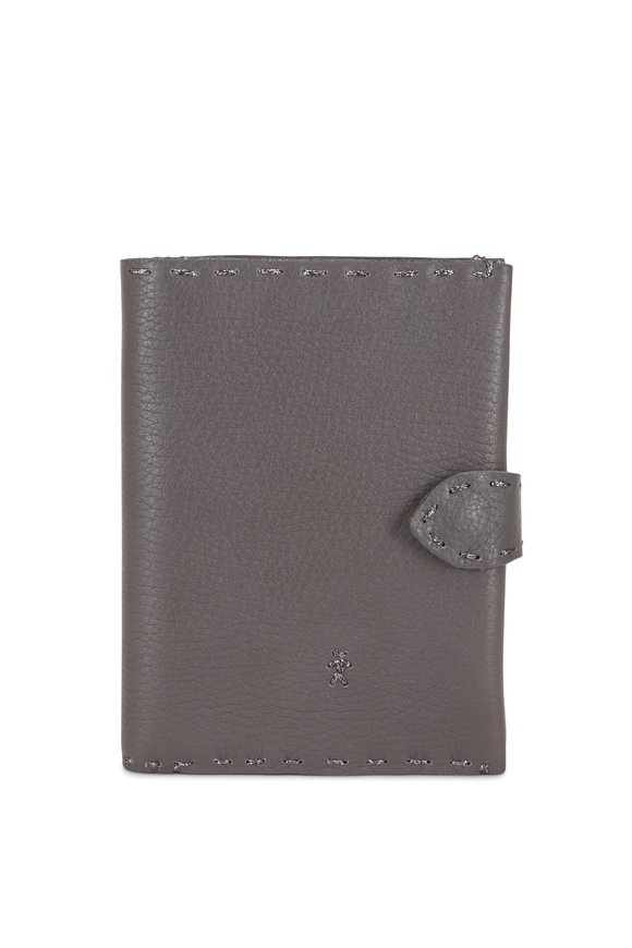 Henry Beguelin Regina Anthracite Leather French Wallet