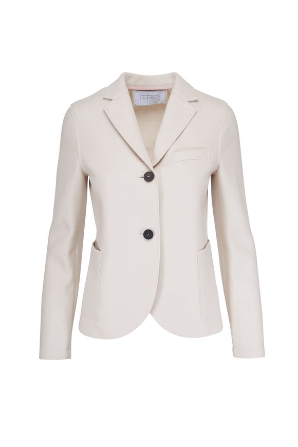 Harris Wharf Cream Wool Short Boyfriend Jacket