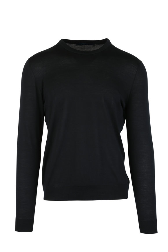 Kiton Black Wool Sweater