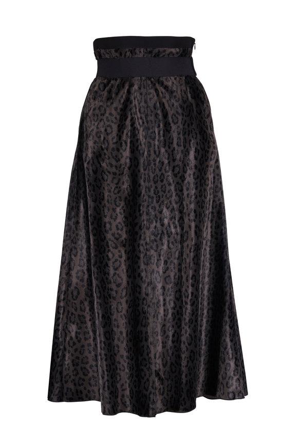 Dorothee Schumacher Leopard Slate High Waist Skirt