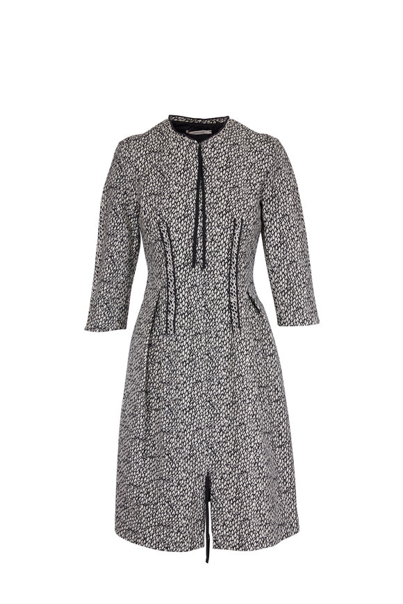 Dorothee Schumacher Black & White Zipper Detail Printed Dress