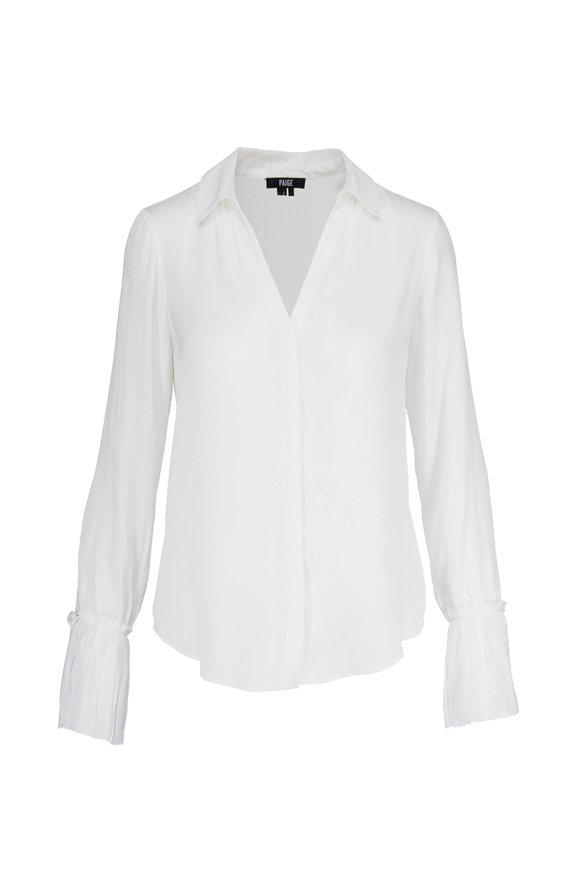 Paige Denim Abrianna White V-Neck Shirt