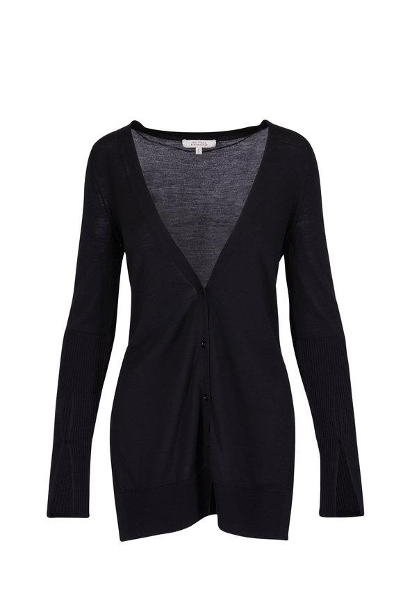 Dorothee Schumacher Magnified Black Virgin Wool Cardigan