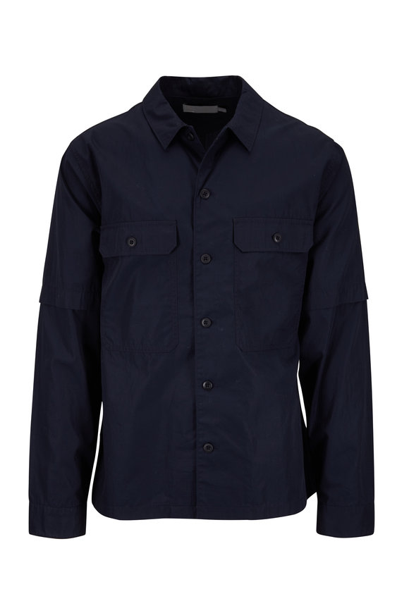 Vince New Coastal Blue Cotton Shirt Jacket