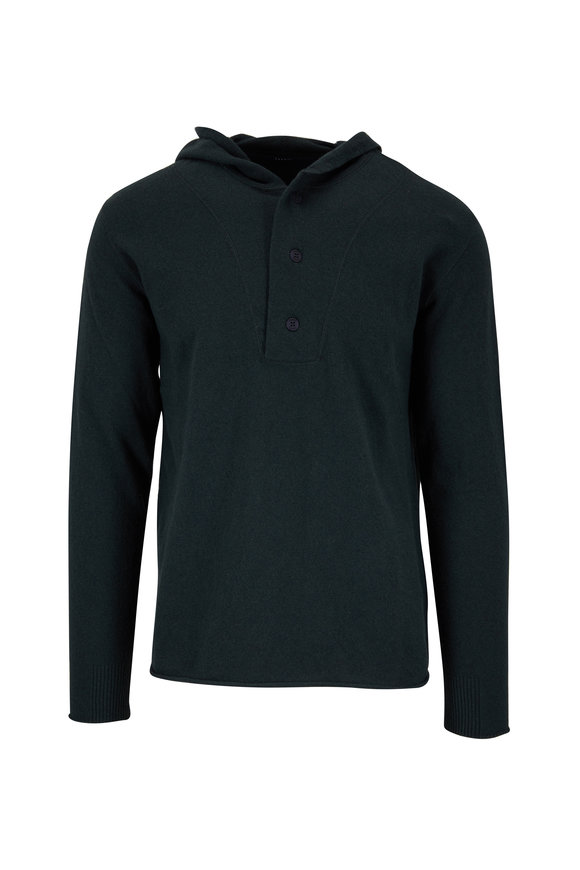 04651/ Hunter Green Wool & Cashmere Hoodie