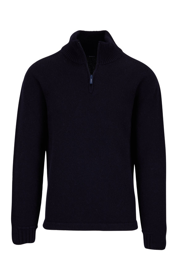 04651 Troyer Navy Quarter-Zip Pullover