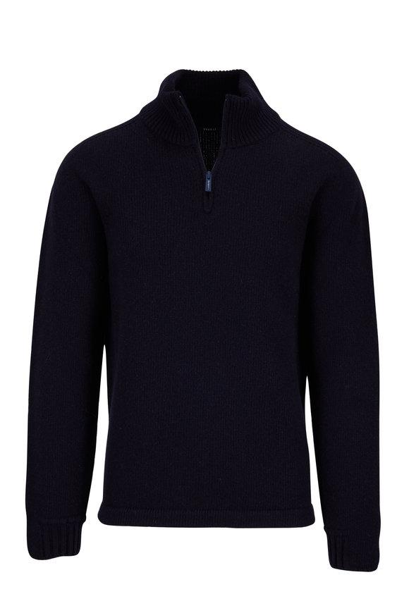 04651/ Troyer Navy Quarter-Zip Pullover