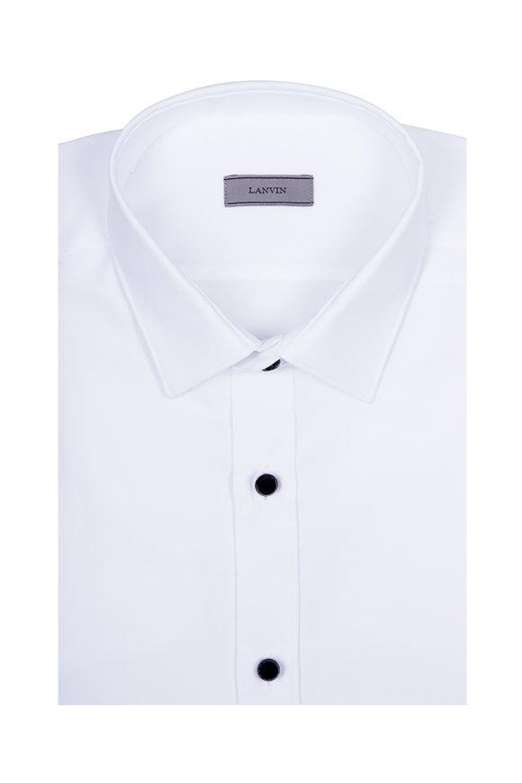 Lanvin Solid White Sport Shirt