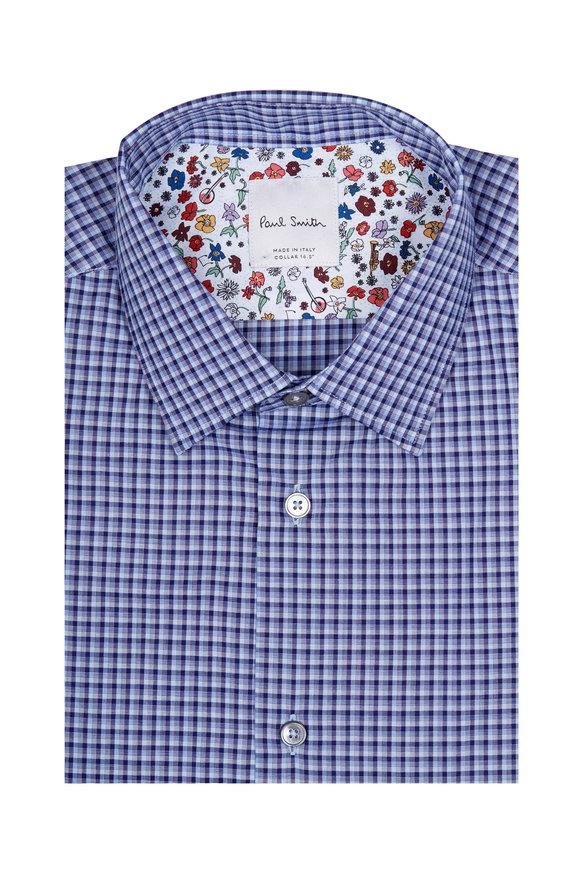 Paul Smith Blue Tonal Check Dress Shirt