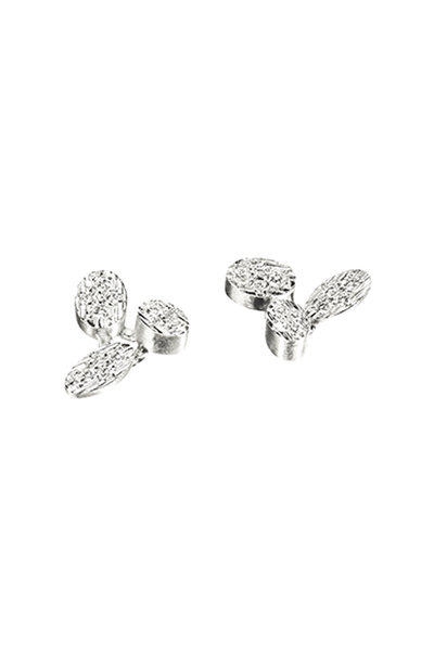 Luisa Rosas - 18K White Gold Petal Diamond Earrings