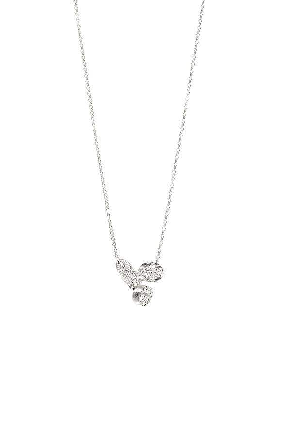 Luisa Rosas 18K White Gold Small Diamond Pendant Necklace
