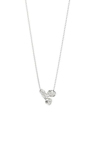 Luisa Rosas - 18K White Gold Small Diamond Pendant Necklace
