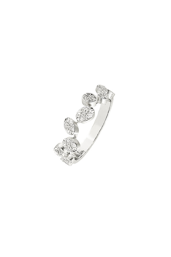 Luisa Rosas 18K White Gold Petal Diamond Ring