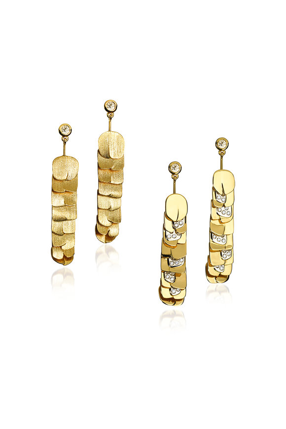 Luisa Rosas 18K Yellow Gold & Diamond Reversible Earrings