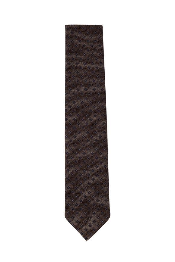 Bigi Loira Brown Melange Silk Necktie