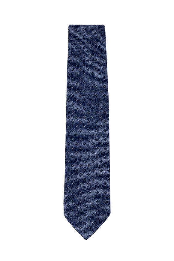 Bigi Loira Blue Melange Silk Necktie