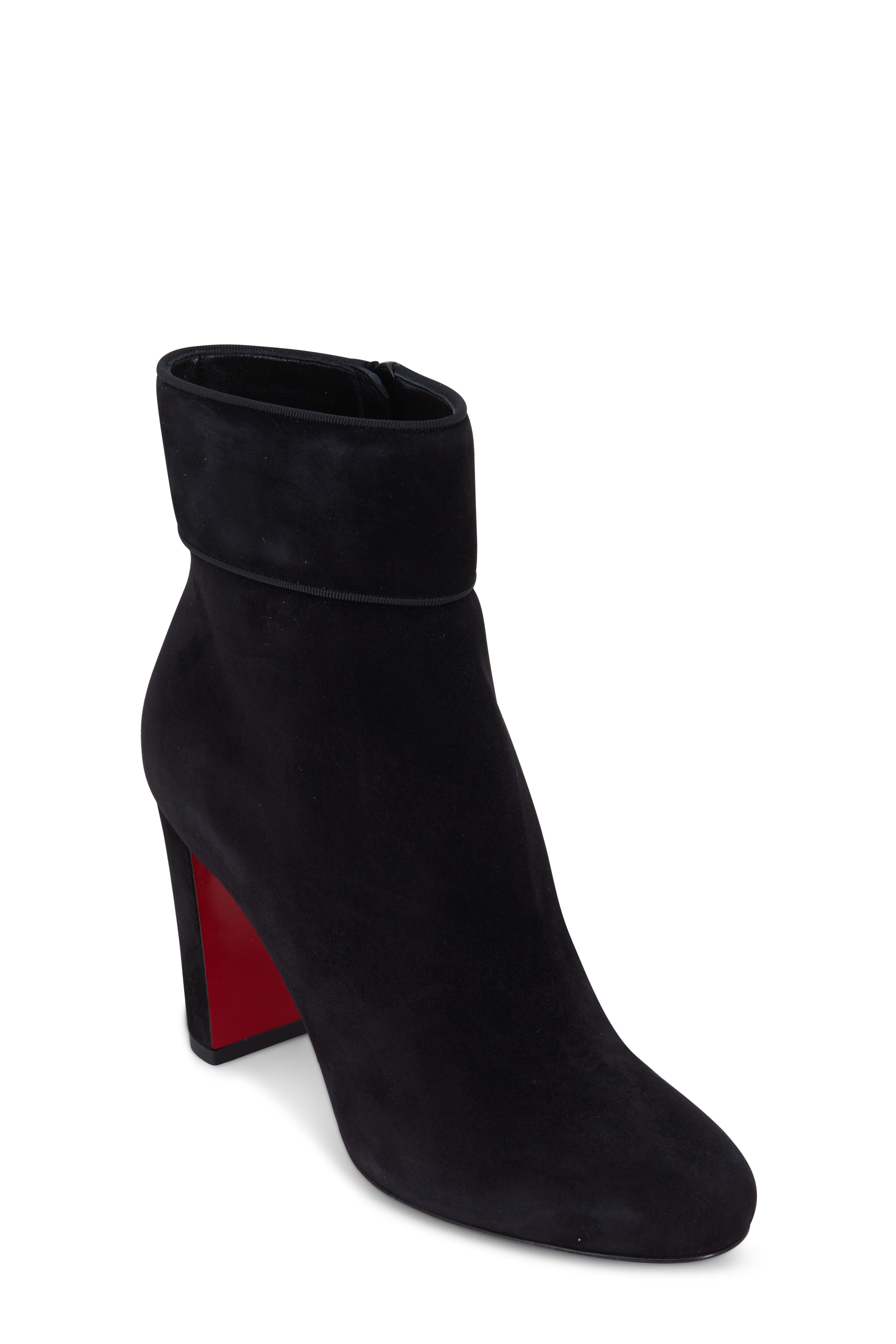 new arrival 2c321 27d57 Christian Louboutin - Moulamax Black Suede Ankle Boot, 85mm ...