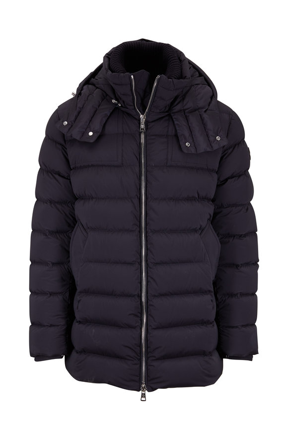 Moncler Mathie Midnight Stretch Nylon Hooded Parka