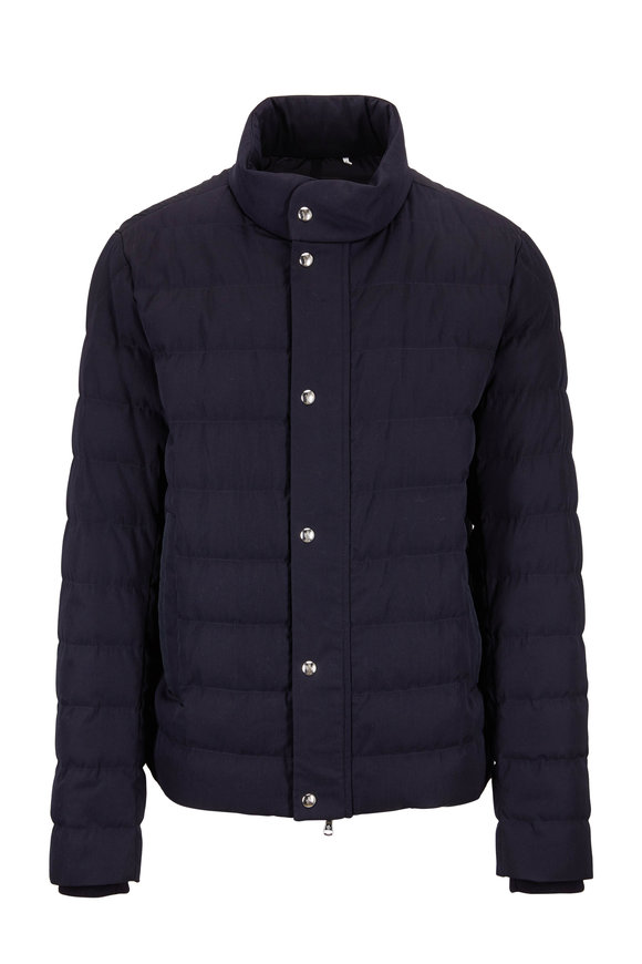 Moncler Bellentre Navy Down Jacket