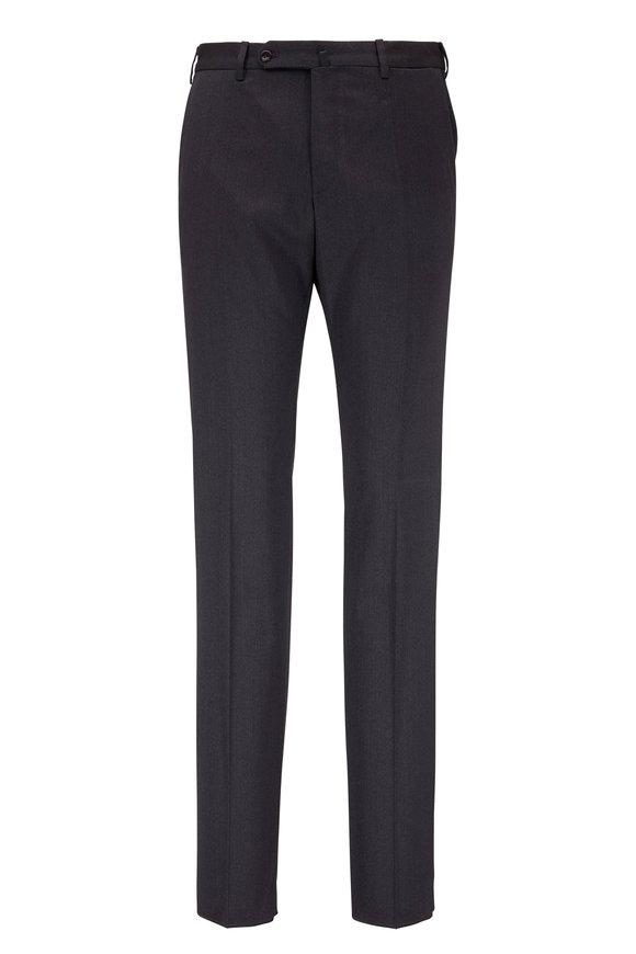 Incotex Benson Charcoal Stretch Wool Modern Fit Pant