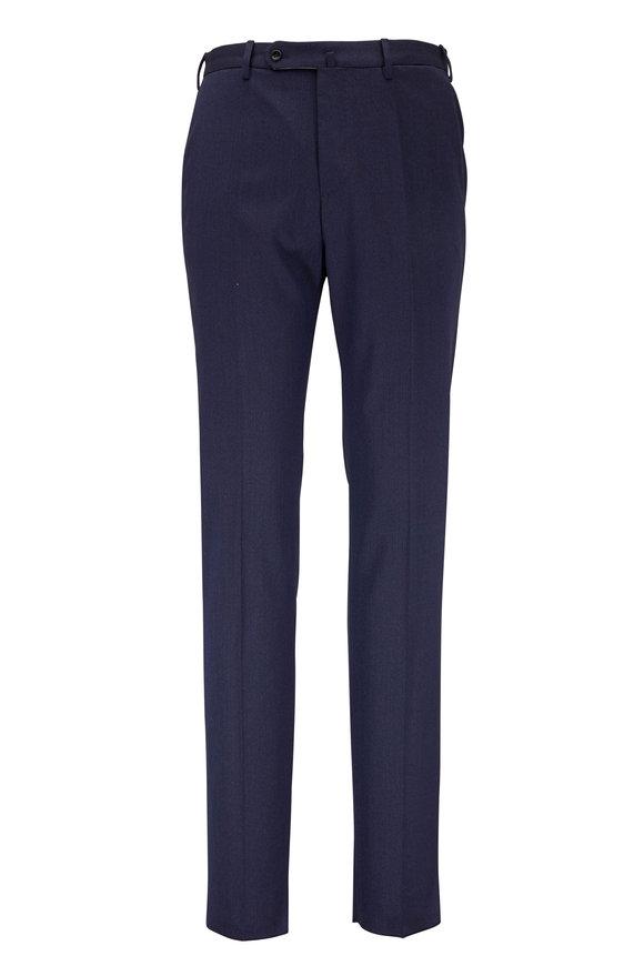 Incotex Benson Navy Blue Stretch Wool Pant