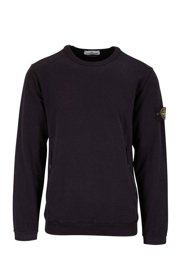Stone Island Black Crewneck Sweatshirt