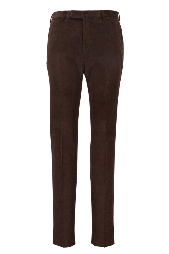 Incotex Mach Brown Corduroy Modern Fit Pant