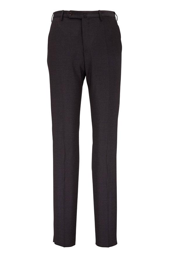 Incotex Benson Dark Brown Techno Wool Modern Fit Pant