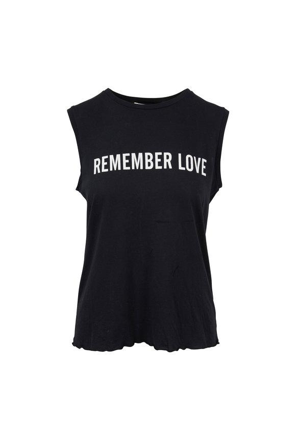 Nili Lotan Black Remember Love Muscle Tee