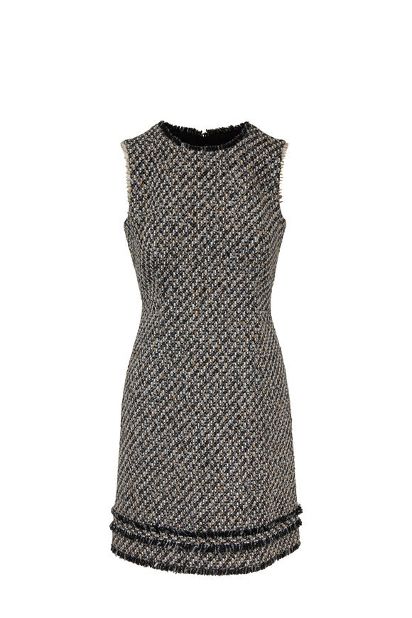 Paule Ka Black & Camel Tweed Dress