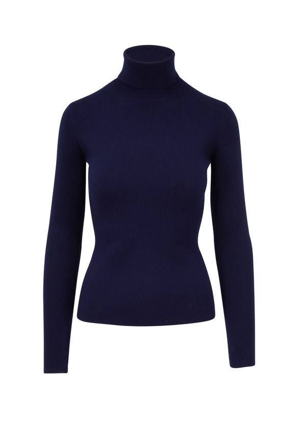 Gabriela Hearst May Navy Turtleneck Sweater