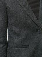 Emporio Armani - Anthracite Ruched Back Blazer