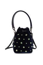 Fendi - Mon Tresor Midnight Velour Crystal Mini Bucket Bag
