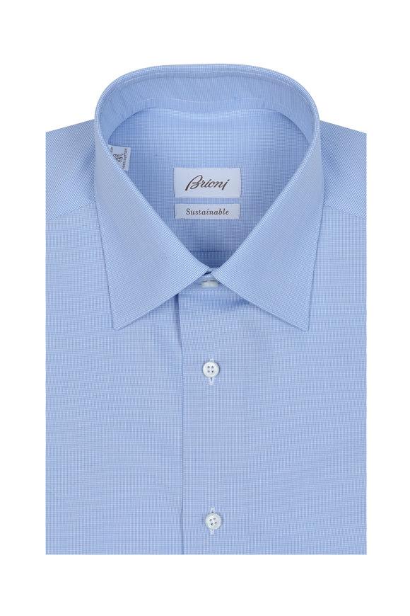 Brioni Solid Blue Dress Shirt