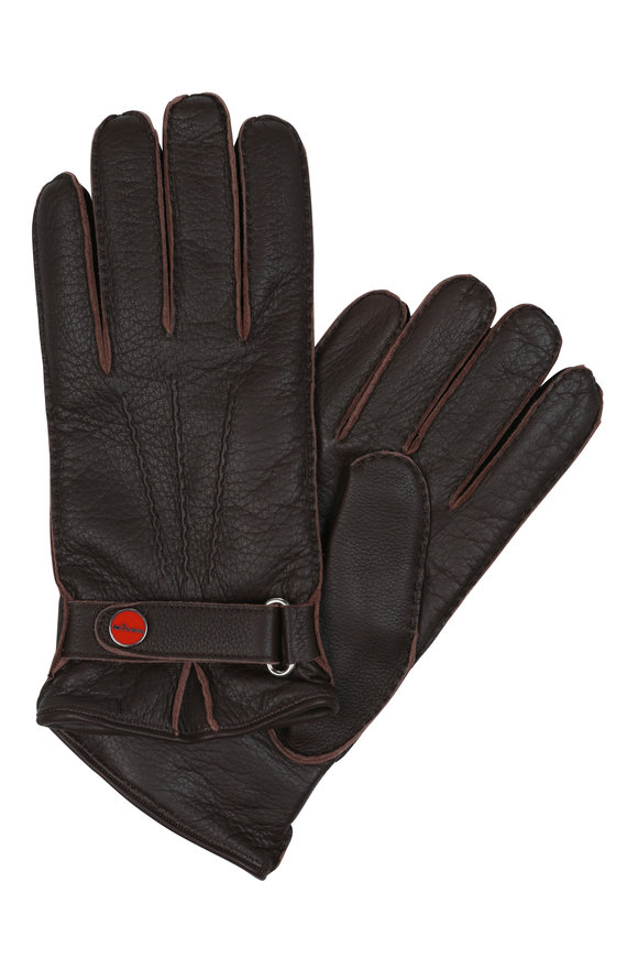 Kiton Brown Leather Gloves