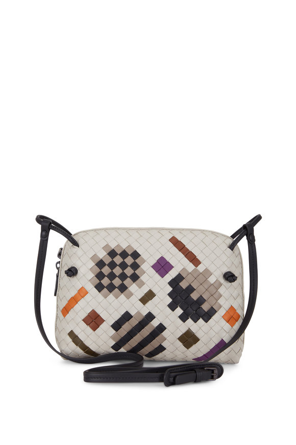 Bottega Veneta Pillow Gray & Cement Intrecciato Artsy Crossbody