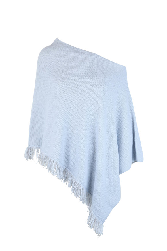 Kinross Arctic & Sterling Cashmere Reversible Poncho