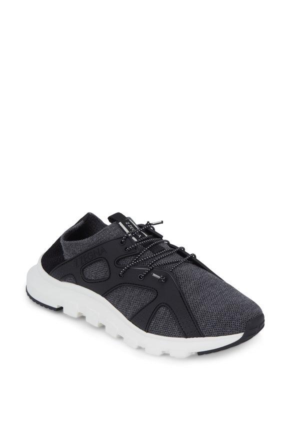 Ermenegildo Zegna Techmerino™ Sock Medium Gray Sneaker