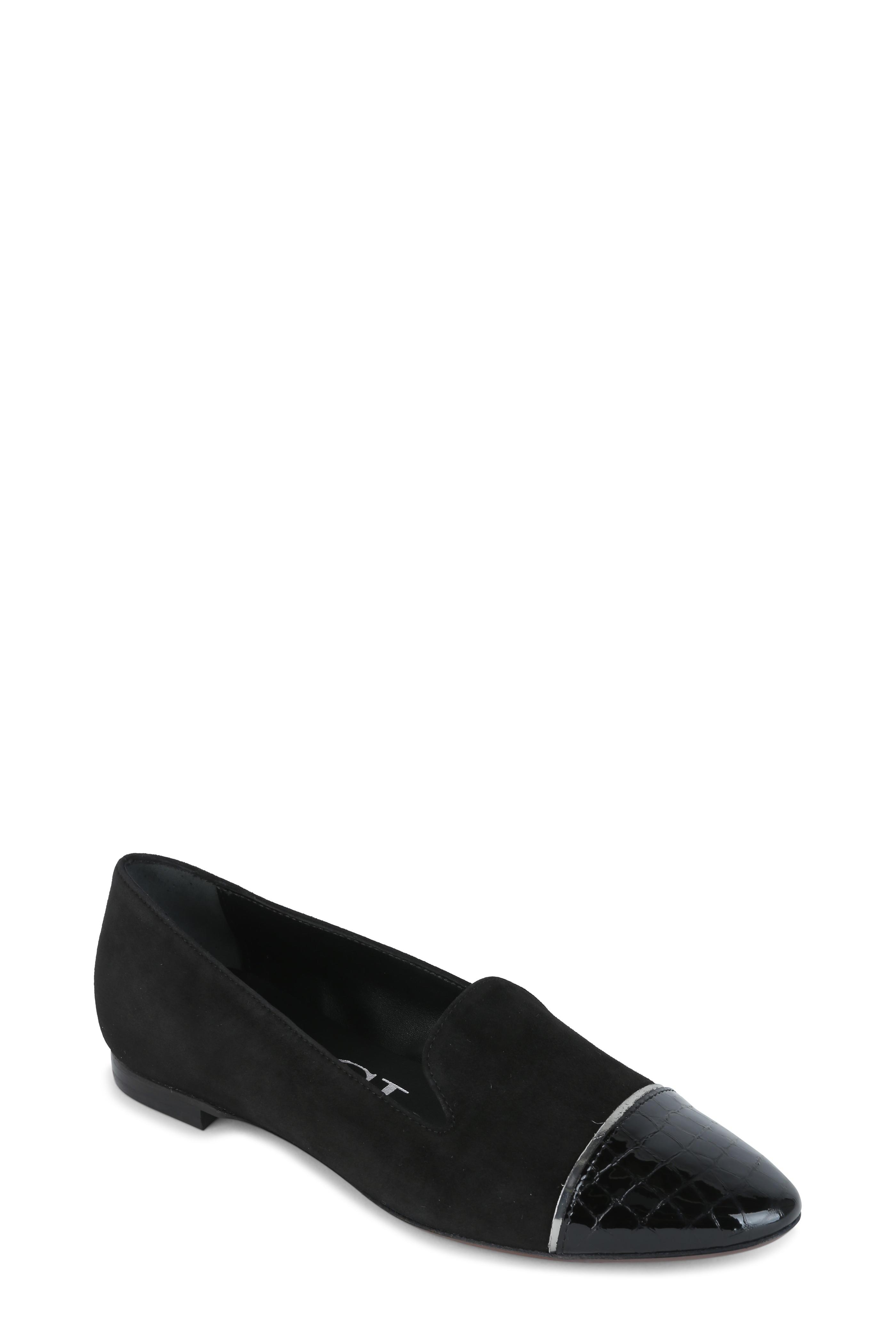d2ad4ea01210a AGL - Black Suede Cap-Toe Ballet Flat | Mitchell Stores