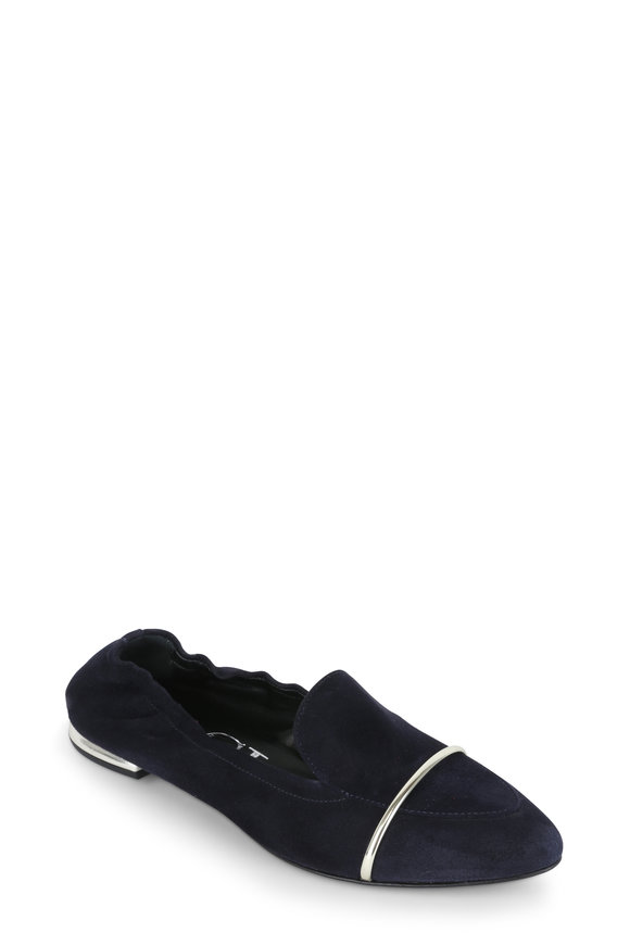 AGL Navy Blue Suede Ballet Flat