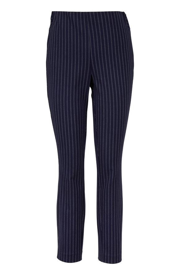 Rag & Bone Simone Navy & White Striped Pant