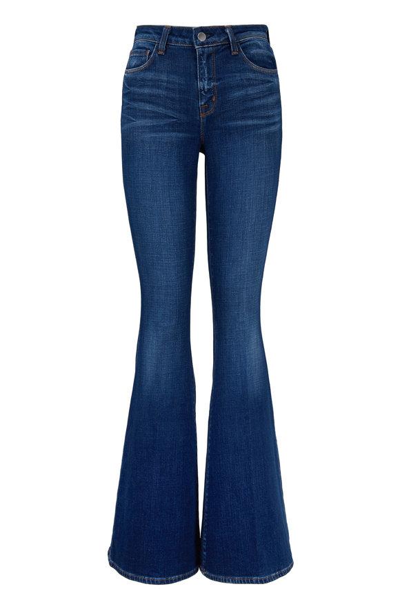 L'Agence Solana Dark Wash High-Rise Big Flare Jean