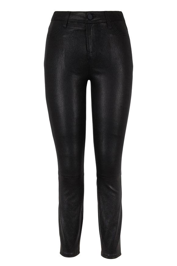 L'Agence Black Leather Skinny Pant