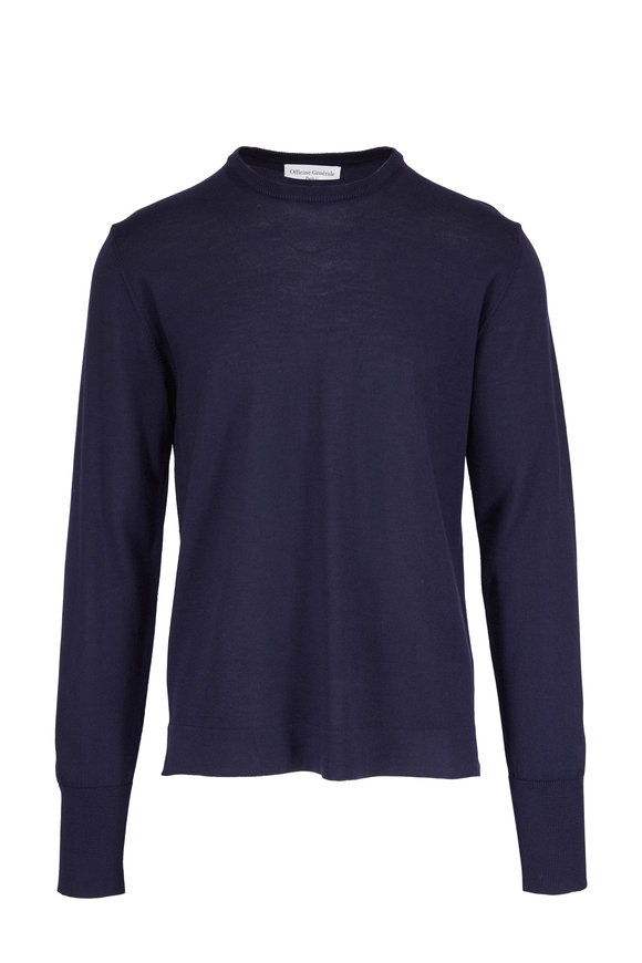 Officine Generale Nina Navy Merino Wool Sweater