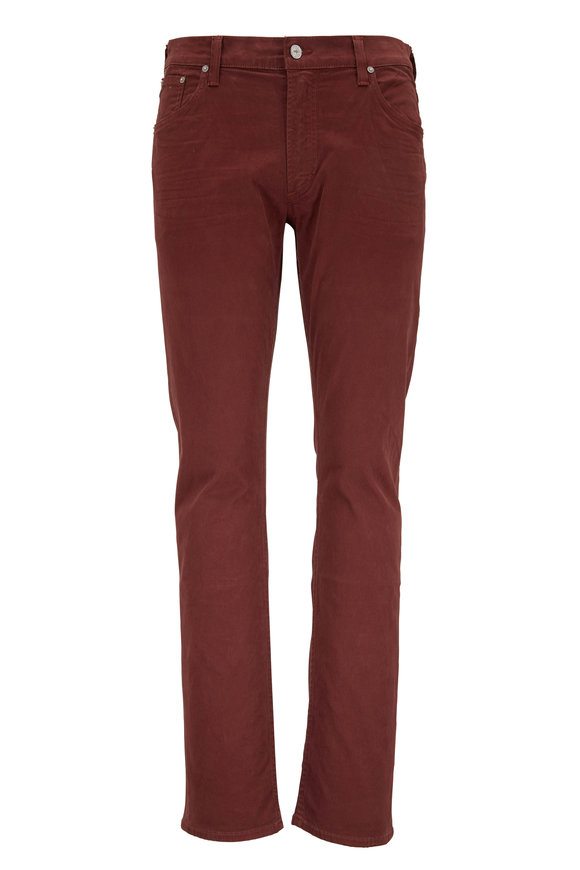 Citizens of Humanity Bowery Rust Red Standard Slim Jean